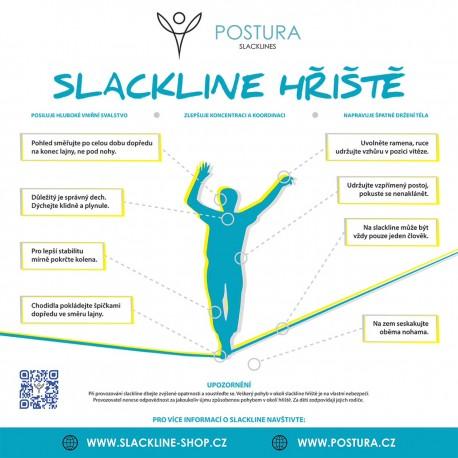 Informační cedule pro slackline hřiště